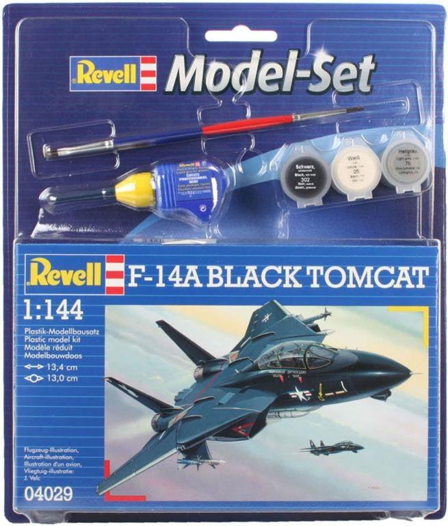 Revell F-14A Tomcat Black Bunny 1:1444 Model Set