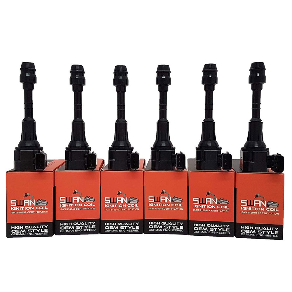 Pack of SWAN Ignition Coils & NGK Spark Plugs for Nissan Murano VQ35DE (3.5L)