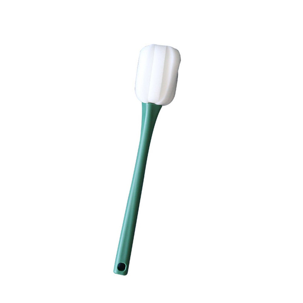2Set PP Sponge Long Handle Cleaning Brush With Replaceable Sponge Kitchen Bathroom Accessories For Glass Bottle Cup Mug Vase