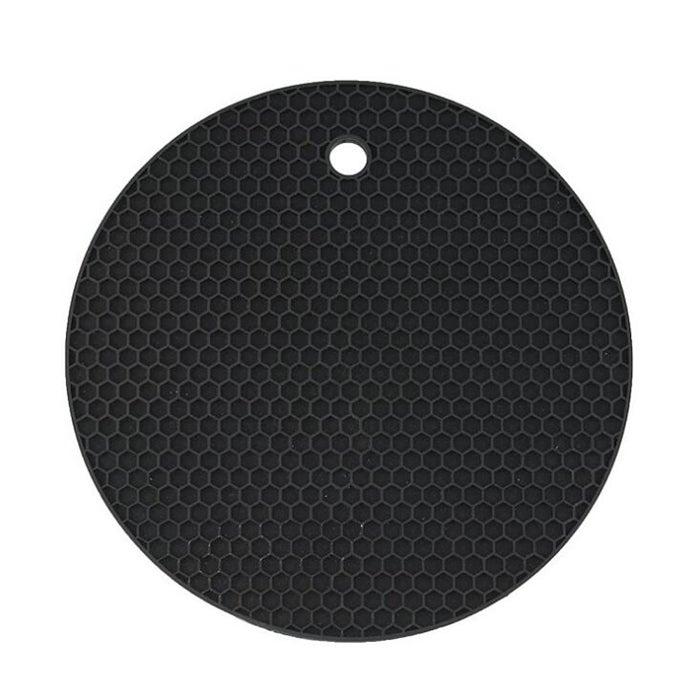 6Pcs Honeycomb Silicone Round Non-slip Heat Resistant Mat