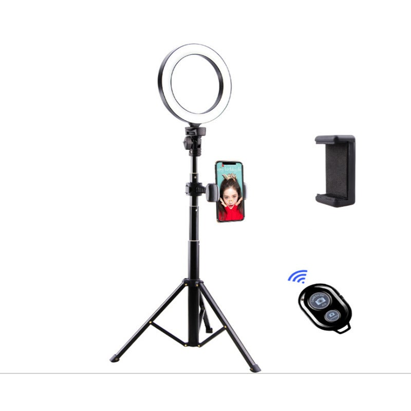 """8"""" LED Selfie Ring Light for Live Stream/Makeup/YouTube Video, Dimmable Beauty Ringlight with Tripod Stand"""