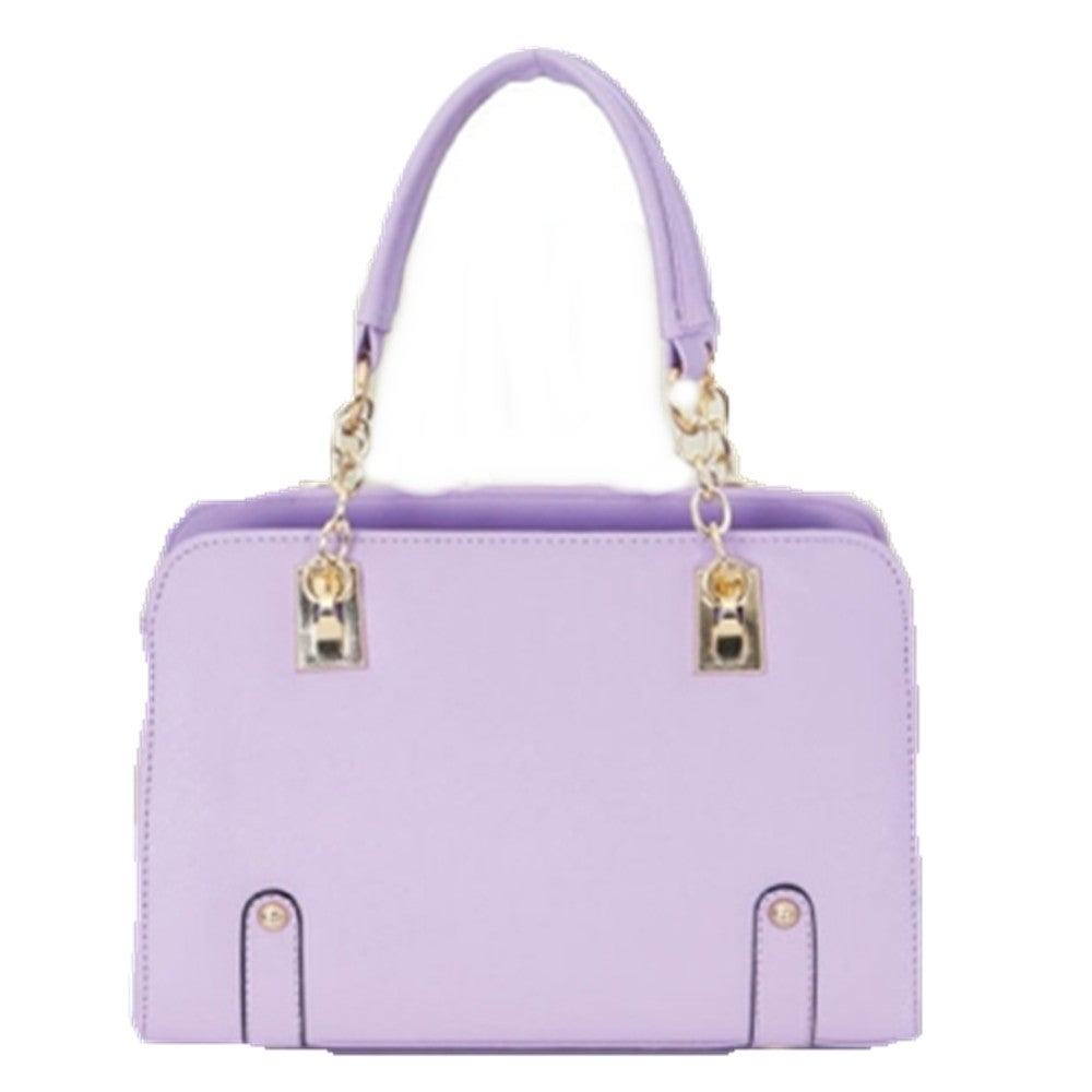Casual PU Shoulder Bag Ladies Handbag Messenger Bag (Purple)