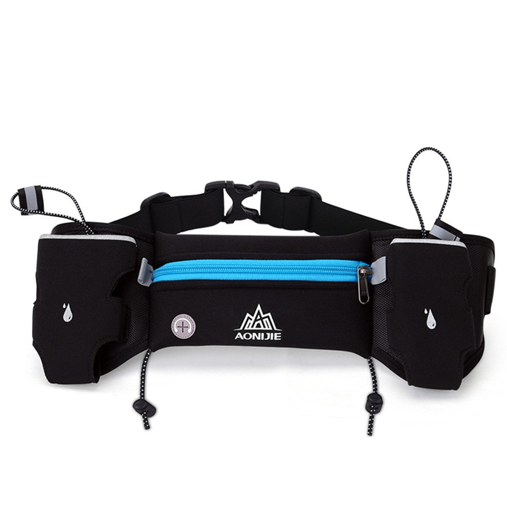 E834 Marathon Jogging Cycling Running Hydration Belt Waist Bag Pouch Fanny Pack Phone Holder For 250ml Water Bottles