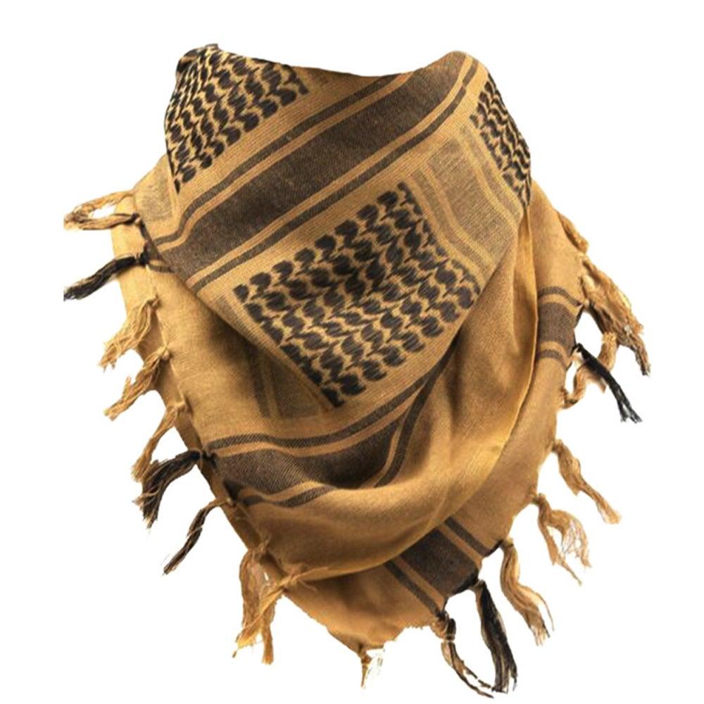 Fashion Mens Lightweight Square Outdoor Shawl Military Arab Tactical Desert Army Shemagh KeffIyeh Arafat Scarf Fashion