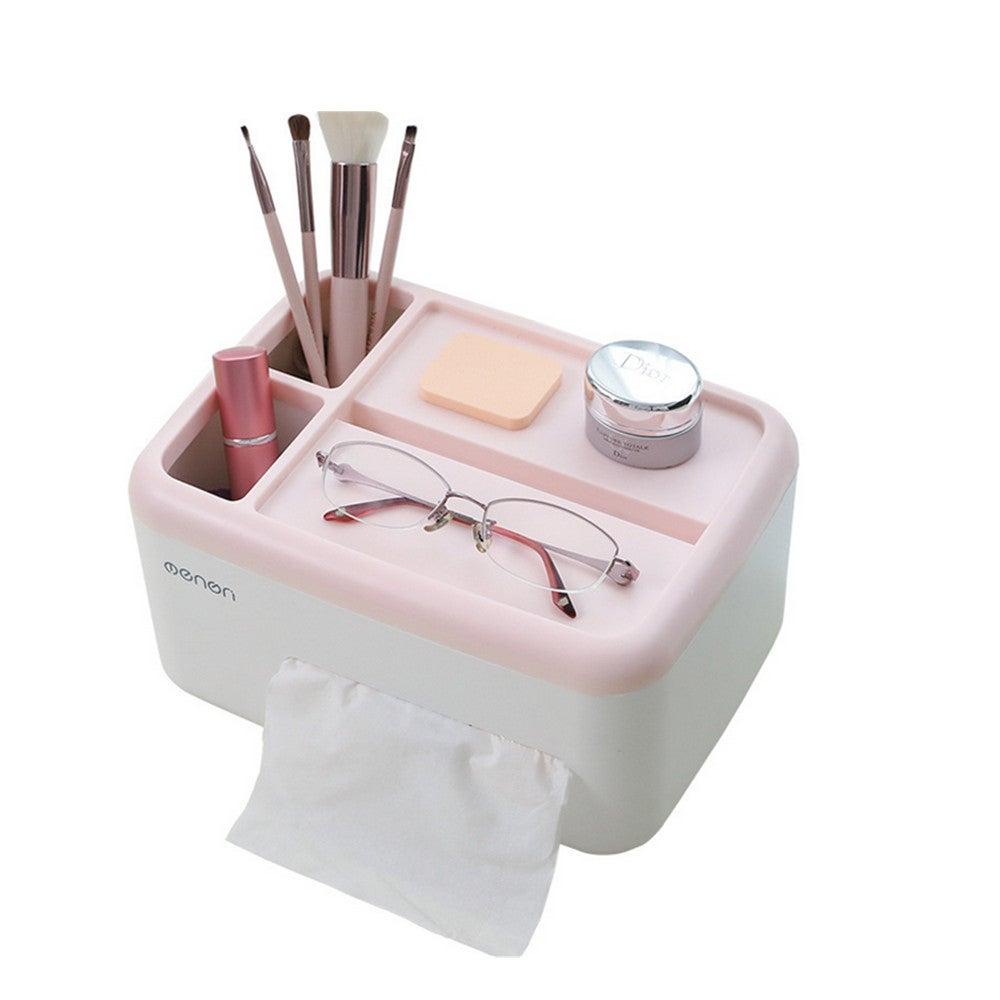 Home Desktop Napkin Case Tissue Box Paper Holder Napkin Holder Organizer Case Toilet Paper Phone Holder