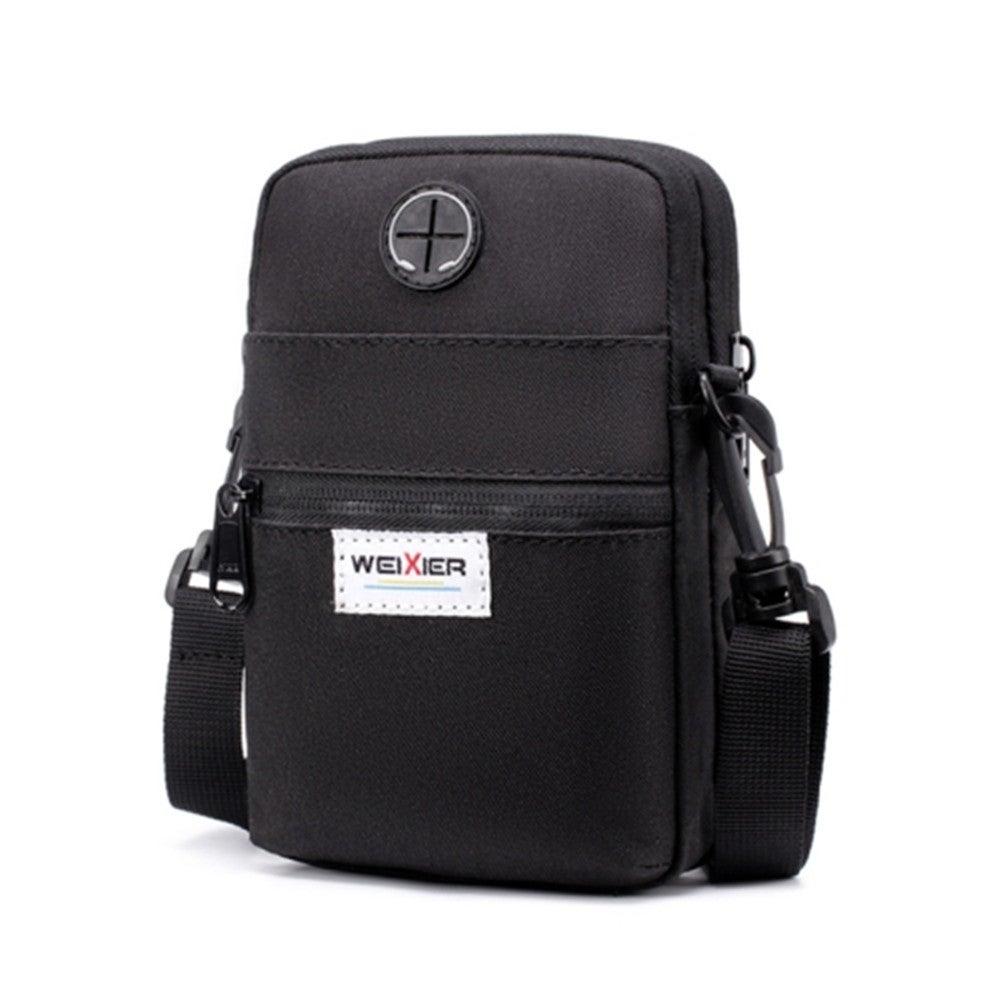 Multifunctional Mobile Phone Bag Outdoor Sports Sports Waist Bag Single Shoulder Bag(Black)