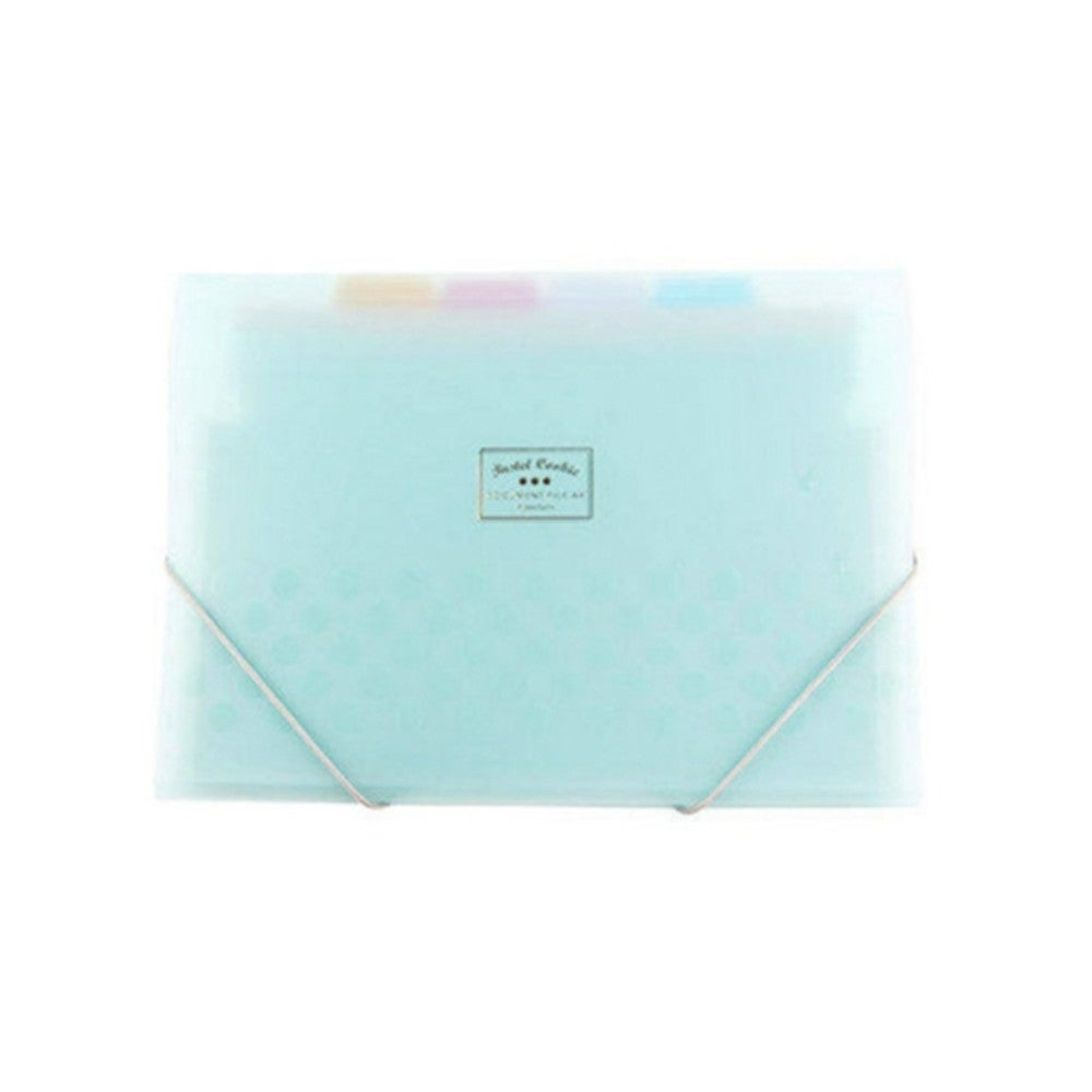 Organ Bag Test Paper Folder Vertical Multi-layer Transparent Student Storage Fle Bag(Blue)