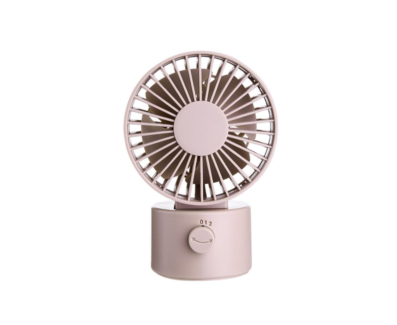 Rotating Shaking Head 2-speed Small Fan USB Creative Desktop Mini Silent 4-blade Fan Cooling Device