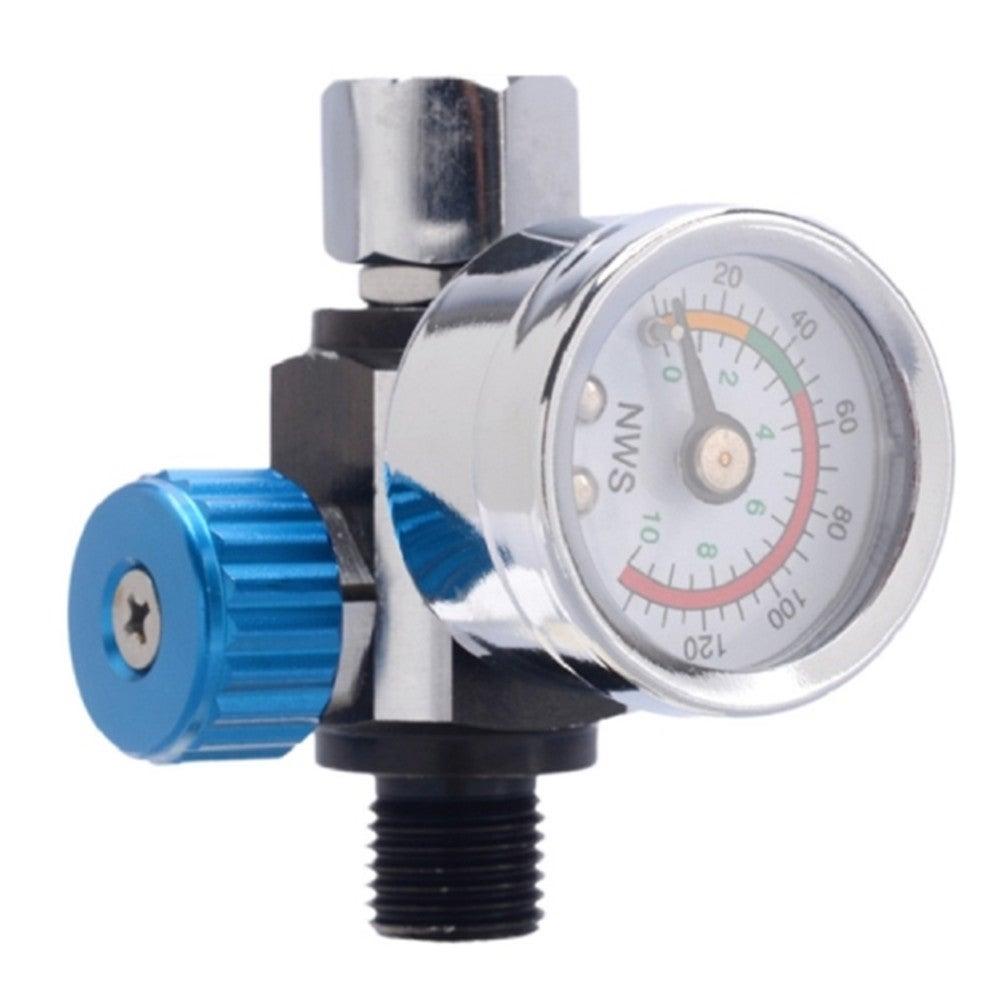 Spray Pressure Regulator Valve Gun Tail Pressure Gauge