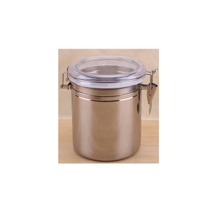 Stainless Steel Sealed Can Coffee Pot Storage Tank with Lid Cover 1450ml
