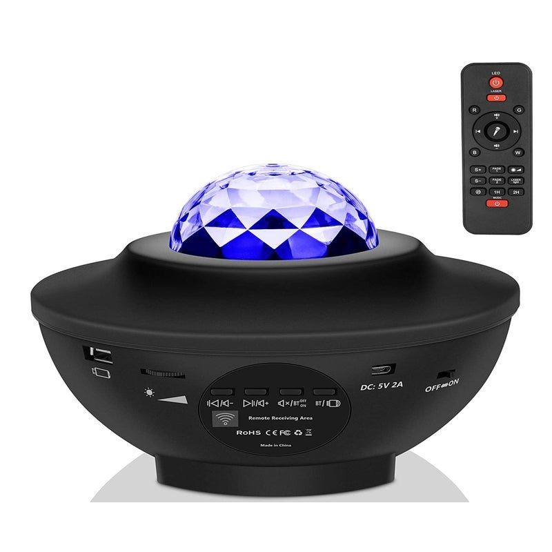 Star Night Light for Kids, Music Starry Projector with 21 Lighting Modes, Bluetooth Music Player, Remote, Timer, Sound-Activated Star Sea Projector