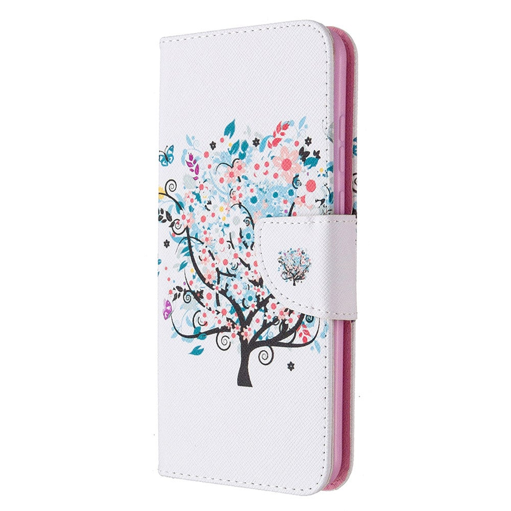 Women Carton Case For Huawei Y5P PU Leather Wallet Phone Case Cover Bag