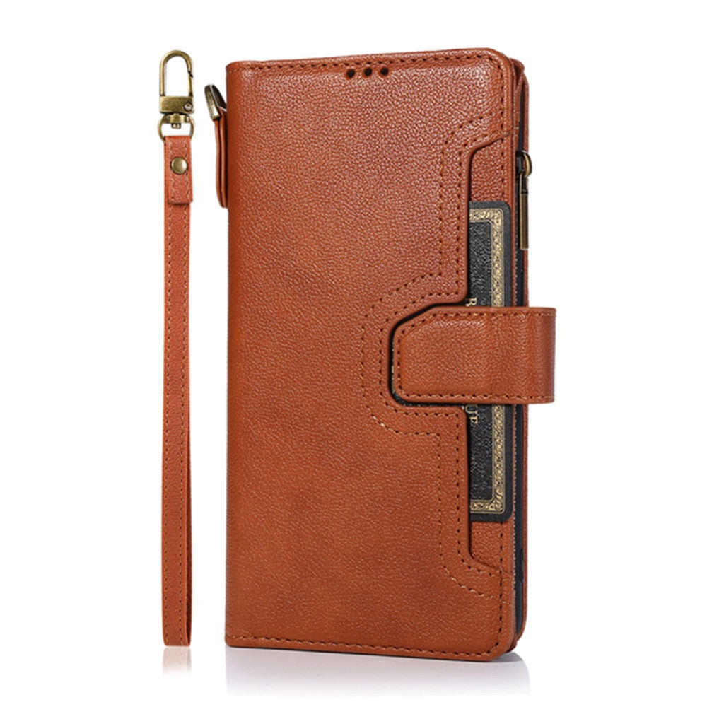 Zipper Wallet PU Leather Case For Samsung Galaxy S9 Purse Card Cover