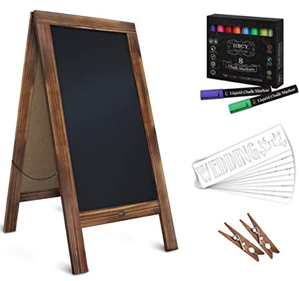 Rustic Magnetic A Frame Chalkboard Deluxe Set