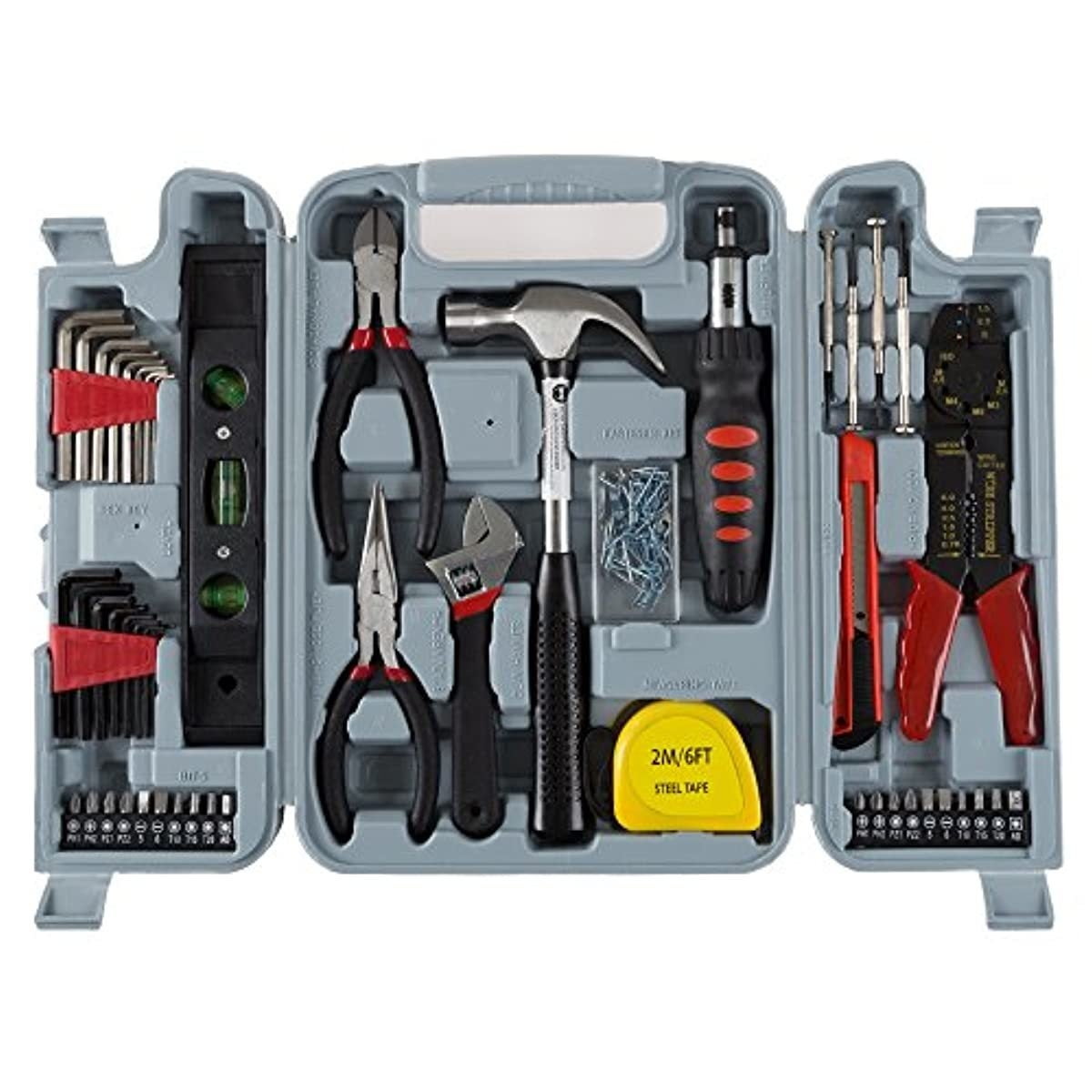 Household Hand Tools 130 Piece Tool Set
