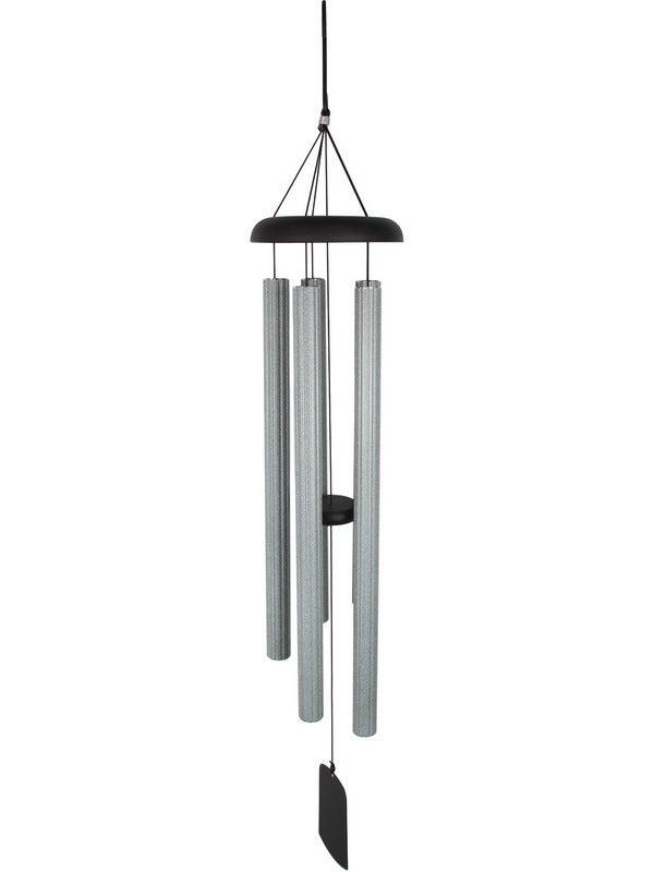 112cm Metal Silver & Grey Column Harmonious Hanging Windchime
