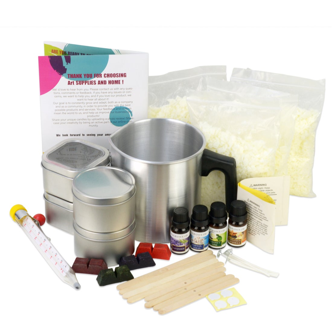 38pce DIY Soy Wax Candle Making Kit With All Tools & Equipment Fun Gift