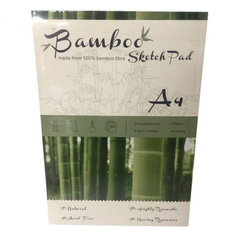 Bamboo Sketch Pad A4, 50 Sheets 105Gsm, Acid Free, Bamboo Fibre For Sketching