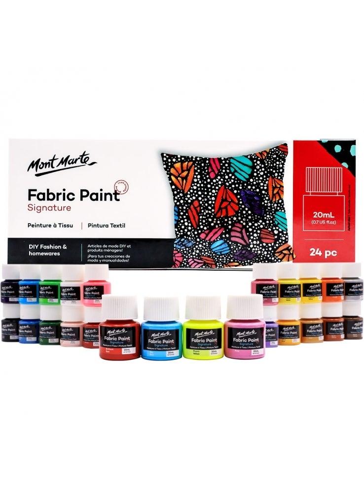 Mont Marte Fabric Paint Set 24pc x 20ml Tubs DIY Fashion