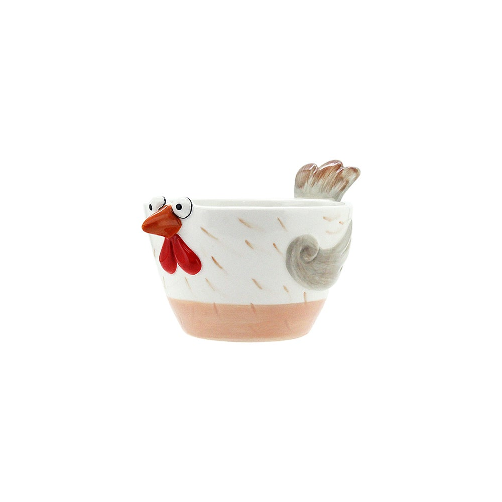Turkey Pot Cute/Funny 10.8x14.5x8.5cm Glazed Ceramic Planter, Herbs & Succulents