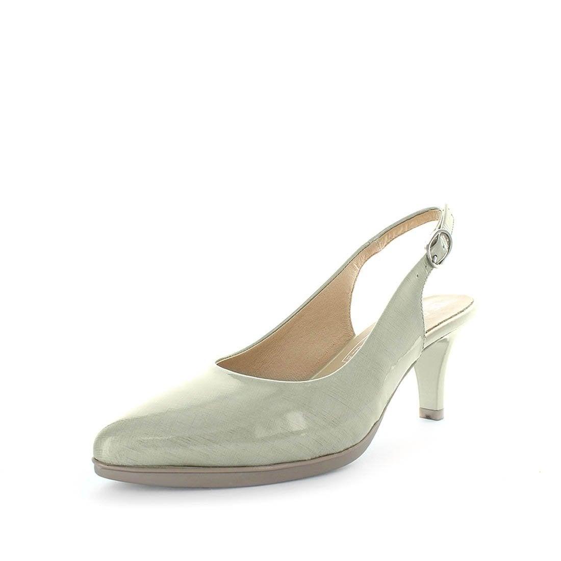 NEW Desiree Darette Stylish Patent Leather Women's Sling Back Sandals