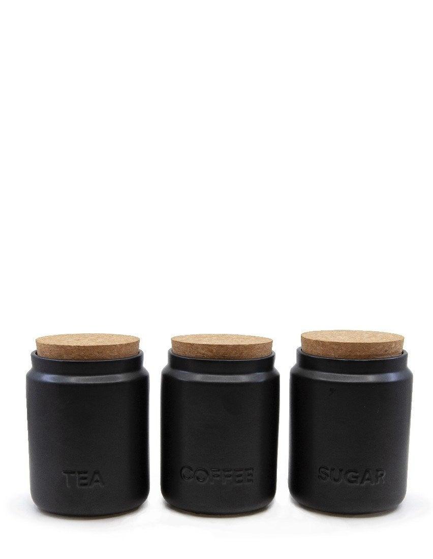 Salt&Pepper Strand Canister Black 10x13cm S/3