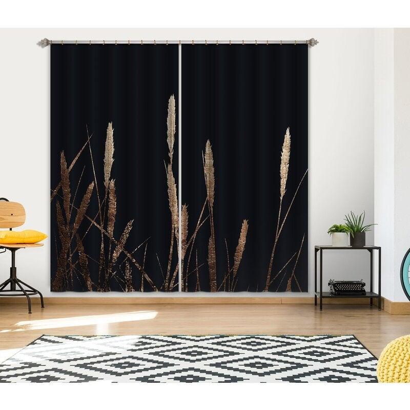 3D Curtain Golden Fields 044 Boris Draschoff Curtain Blockout Photo Curtain Printing Curtains Drapes Fabric Window