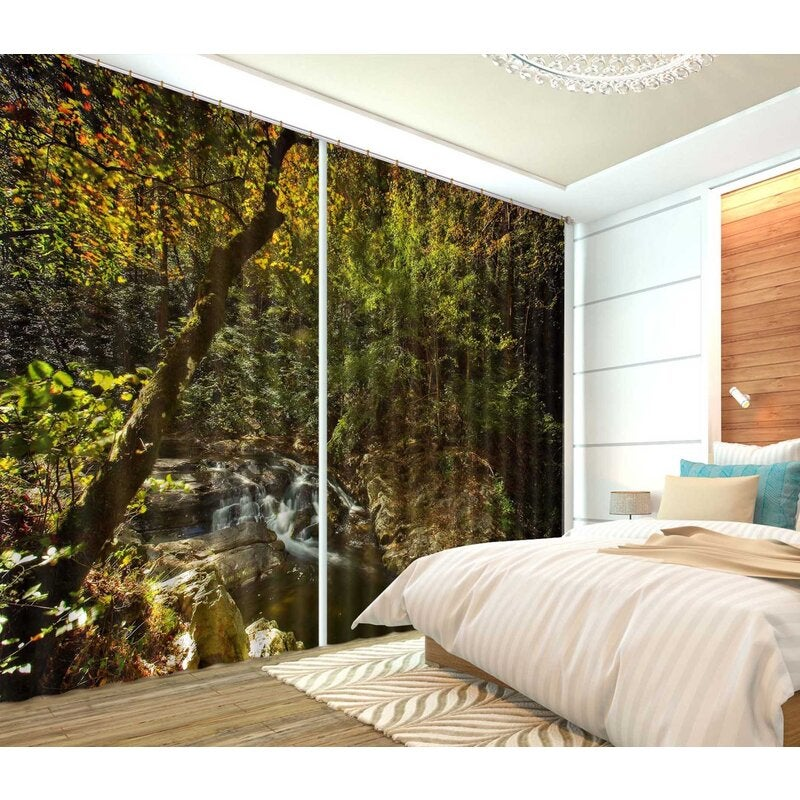 3D Curtain Tranquil Valley 077 Kathy Barefield Curtain Blockout Photo Curtain Printing Curtains Drapes Fabric Window
