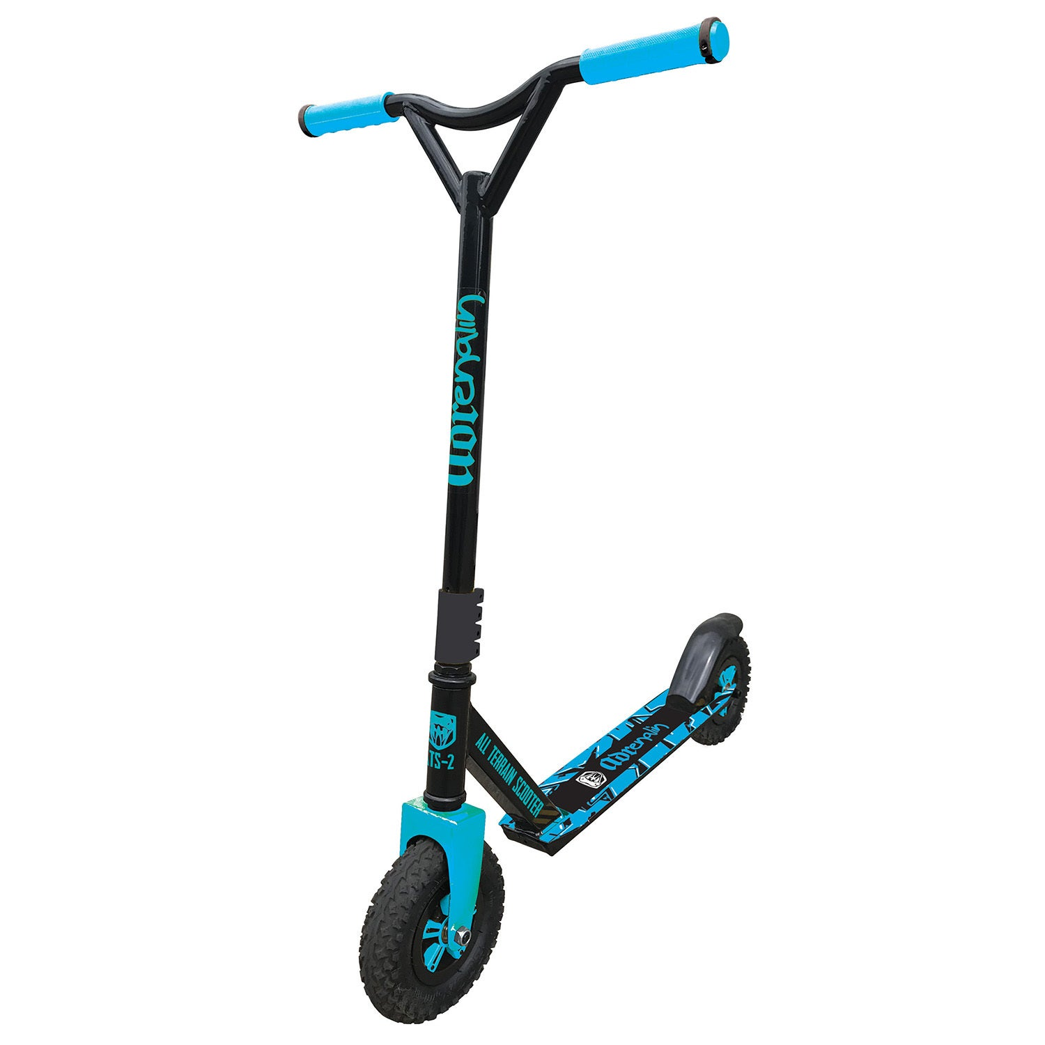 Adrenalin All Terrain 2 Off Road Kids Adult Push Scooter Blue