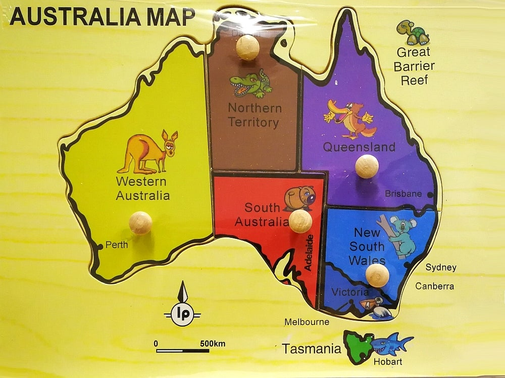 Australian Map Wooden Puzzle (AAC002728)