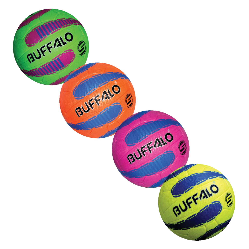 BUFFALO SPORTS HYPER CELLULAR SUPER GRIP NETBALL - SIZE 5 - MULTIPLE COLOURS