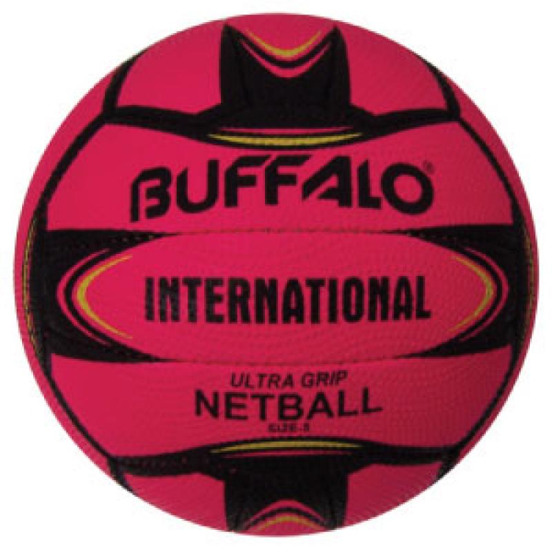 BUFFALO SPORTS INTERNATIONAL ULTRA GRIP NETBALL - SIZE 5 - MULTIPLE COLOURS