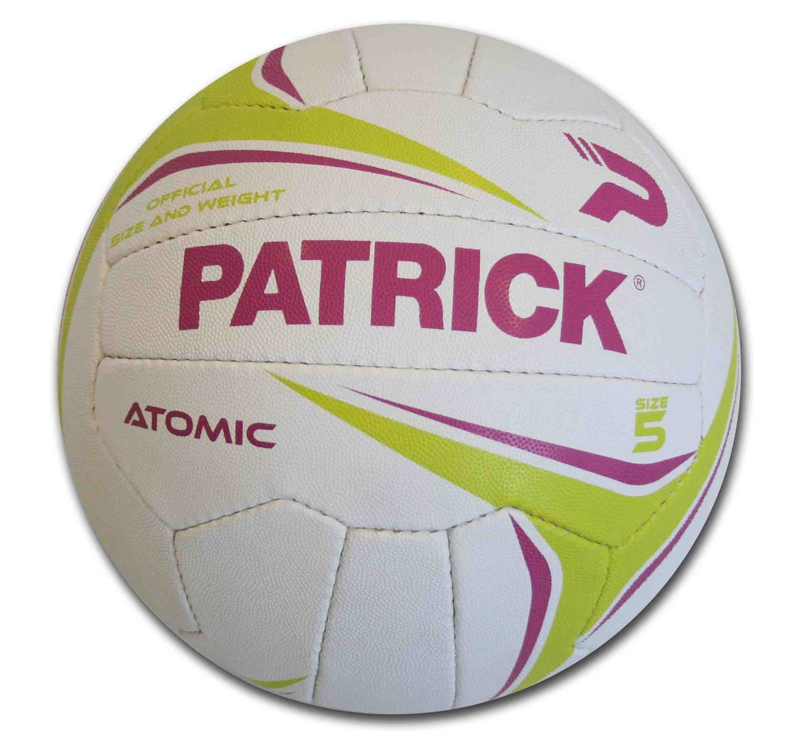 PATRICK ATOMIC NETBALL - VULCANISED RUBBER COVER - SIZES 4 / 5