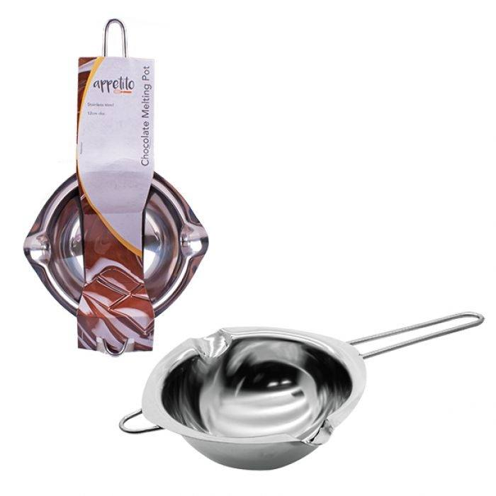Appetito Stainless Steel Chocolate Melting Pot 12cm