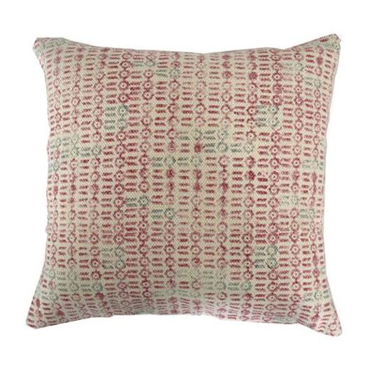 Red Tracery Cushion