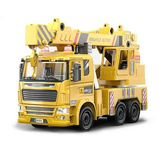 1:22 STEM Learning Construction Truck Toy DIY Assemble Crane Truck Light Sound