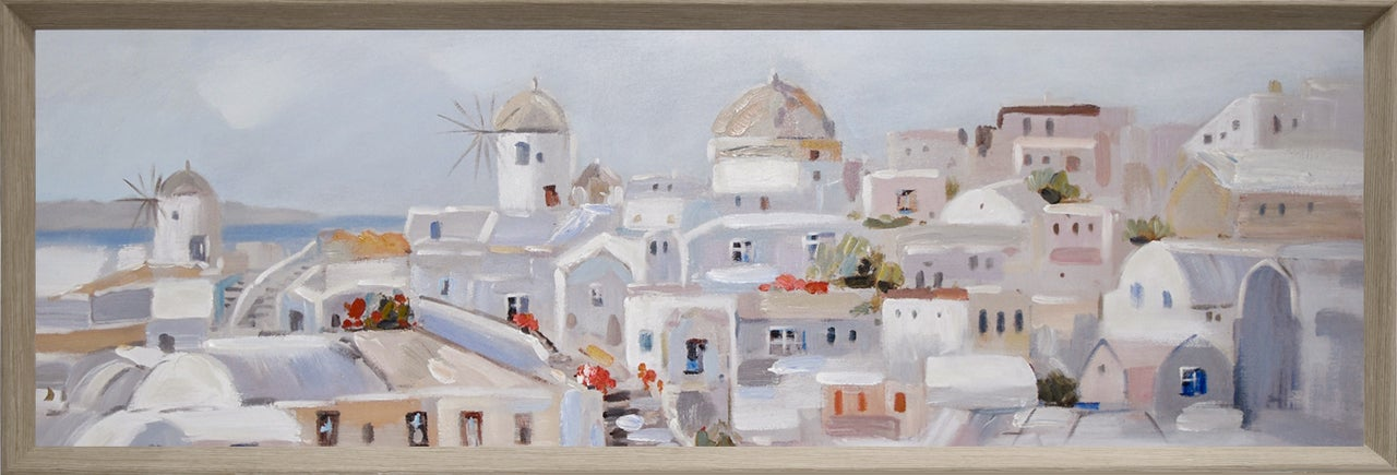 By Dezign - Santorini Painting - Canvases