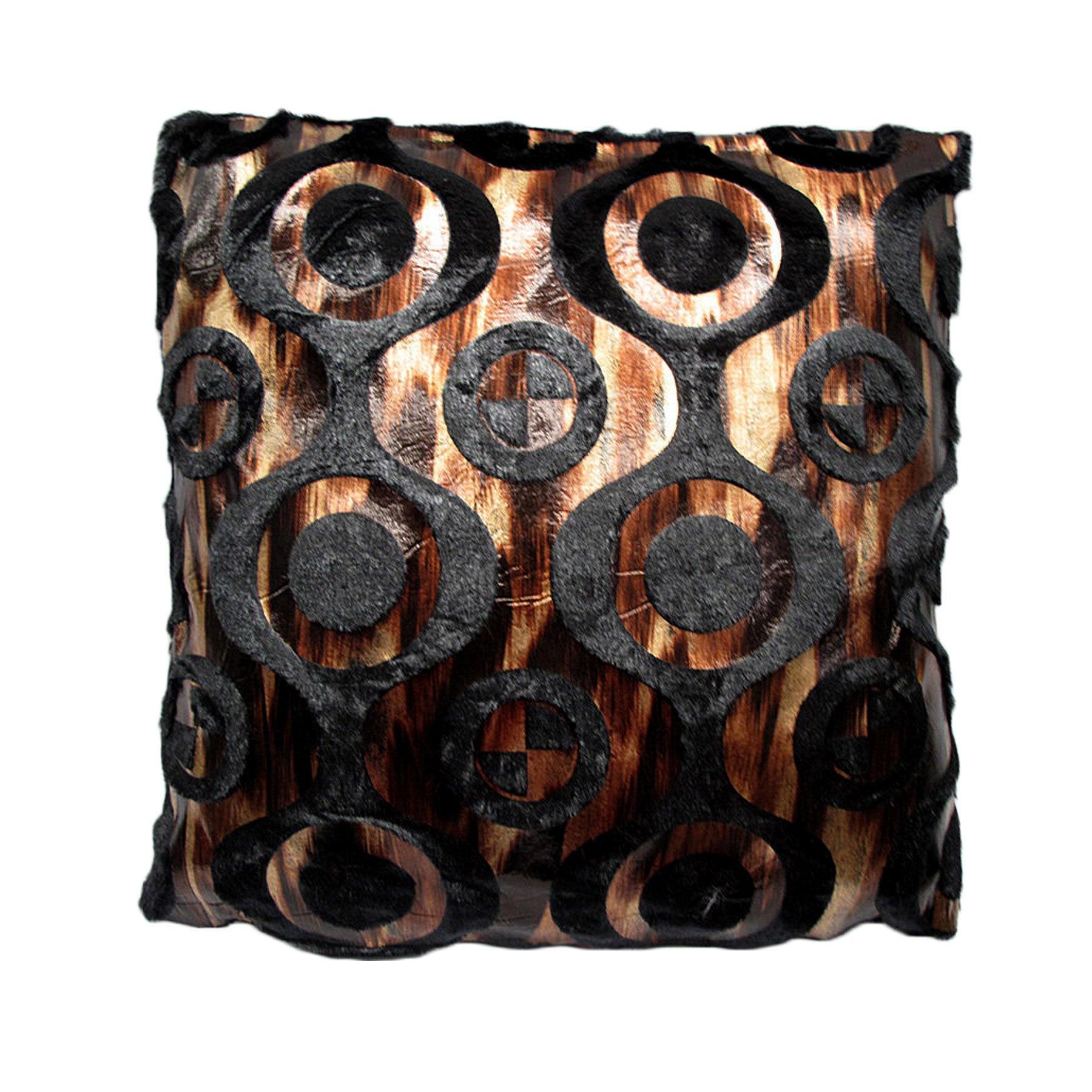 Fashion Burn-Out Cushion Austin Black by Hotel Living