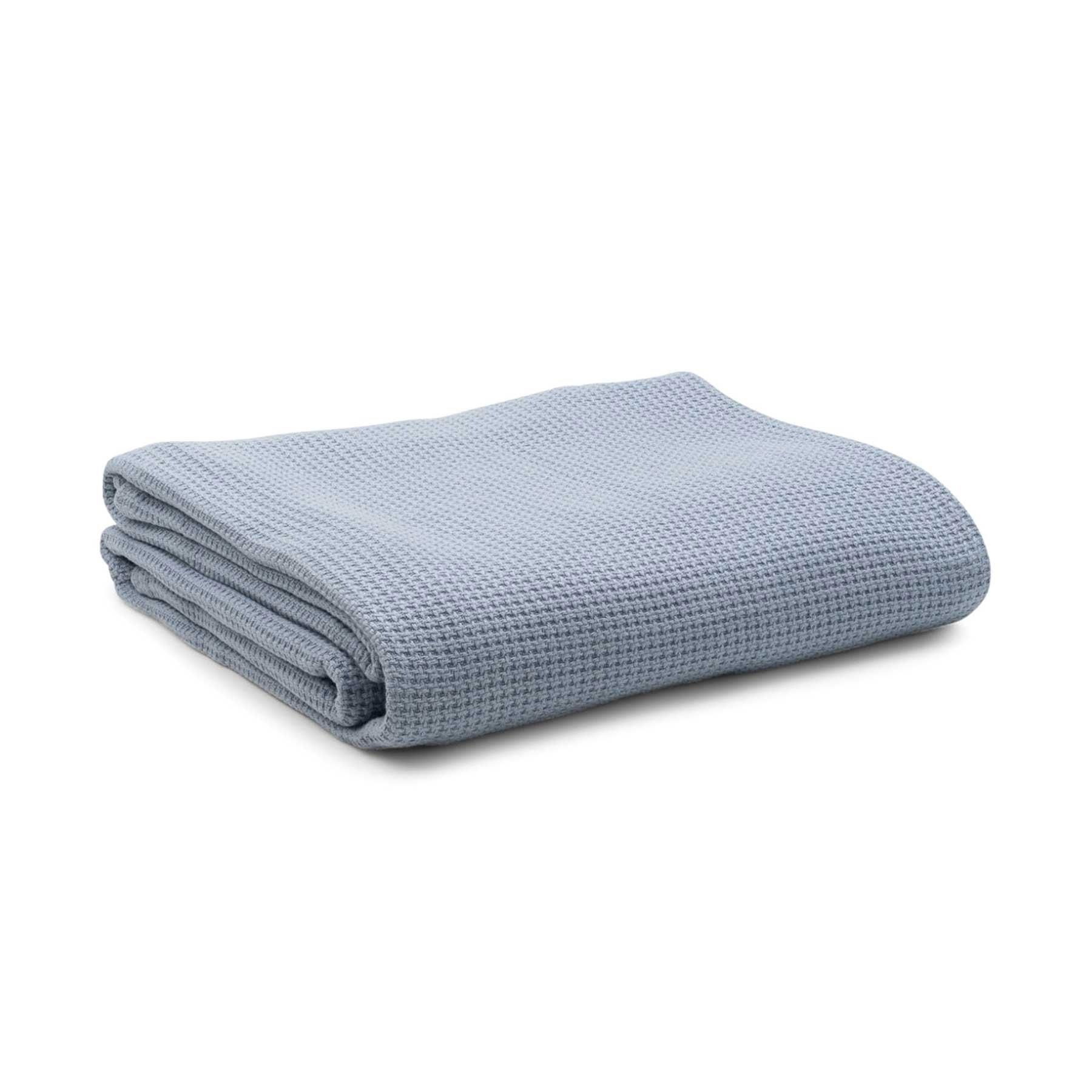 Pure Bamboo Cotton Blanket Light Blue by Onkaparinga