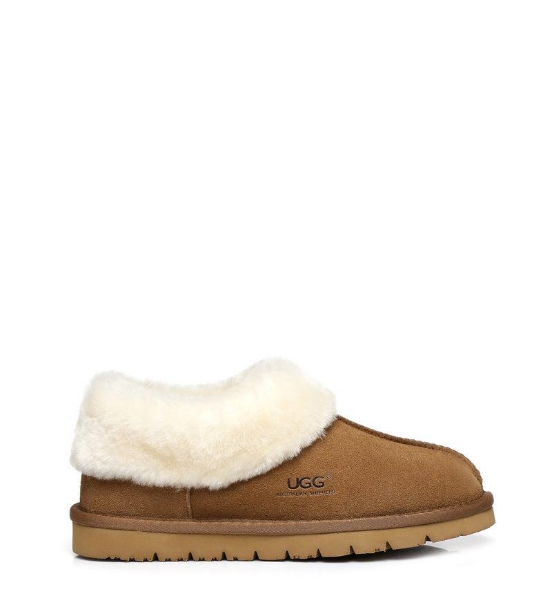 Ugg Australian Shepherd Homey Slipper - Cow Leather Upper - Unisex - House Shoes