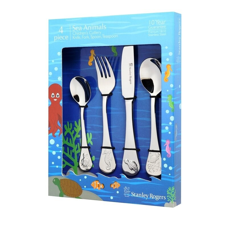 Stanley Rogers Children's Ocean Animals 4 Piece Cutlery Set For Kid's