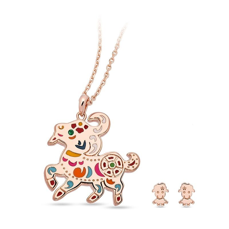 Carnival Sheep Necklace / Pendant