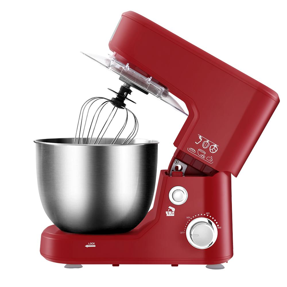 Electric Stand Mixer 1200W Kitchen Beater Cake Aid Whisk Bowl Hook Red