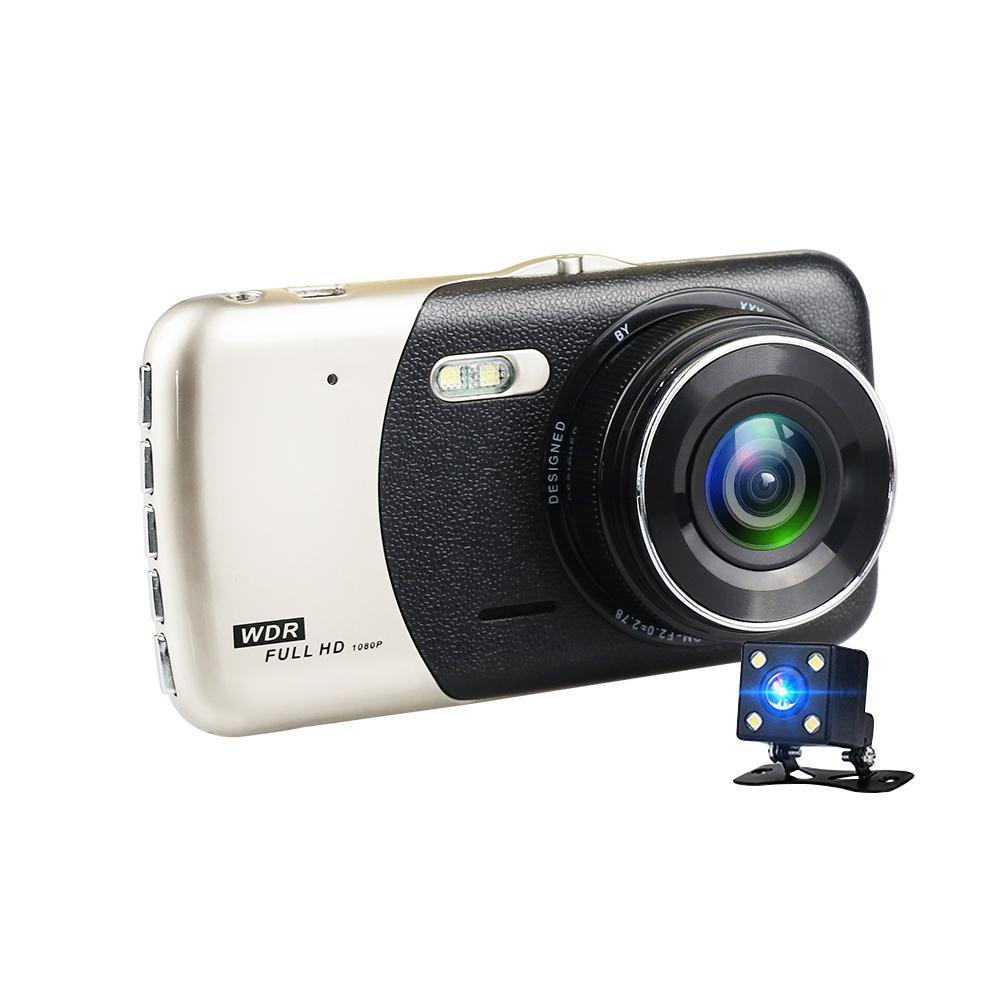 Bostin Life Next Gen 4 Inch Screen 1080p HD Cycle Recording Front & Rear Car Dash Camera