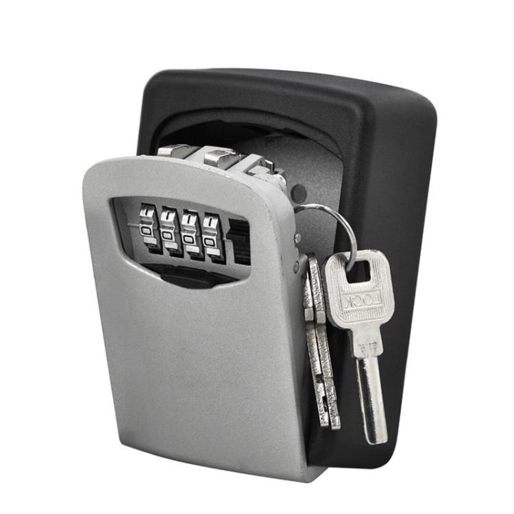 Bostin Life Wall-mounted Key Lock Box Household Password Safe Box