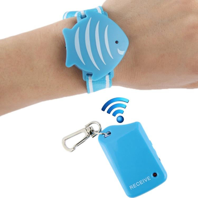 Bostin Life Wrist Band Anti-Loss Alarm Child Tracker (Blue)