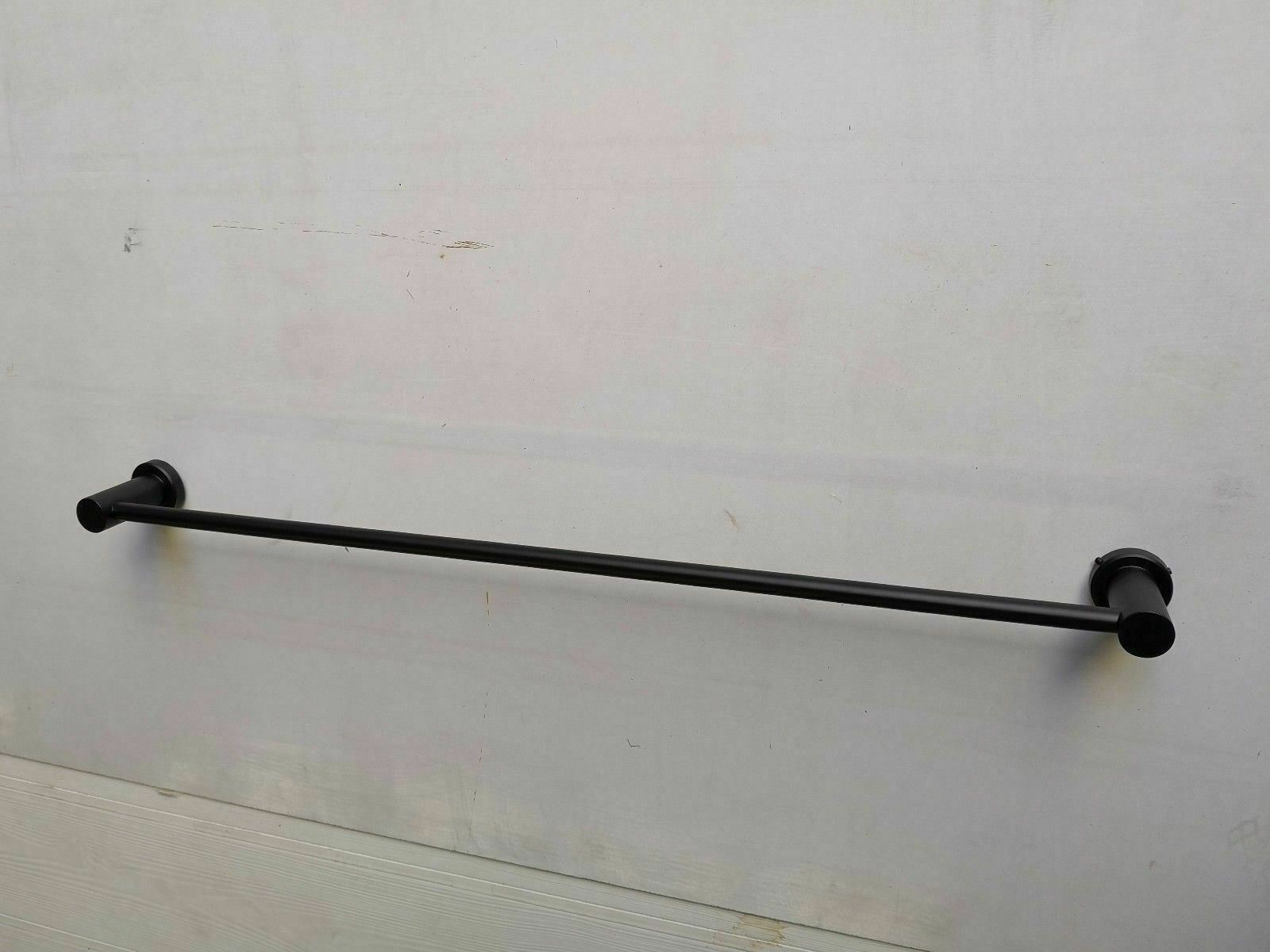 Matte Black hard wired Heated Towel Rail rack Round AU standard SINGLE bar 850mm
