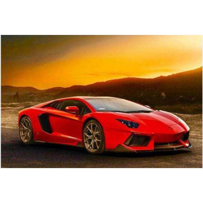 Diamond Art Picture Full Drill Size 40X50 Lamborghini