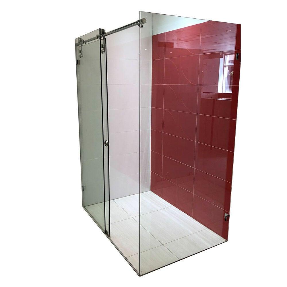 Shower Screen Frameless Sliding Door Silver Hinge