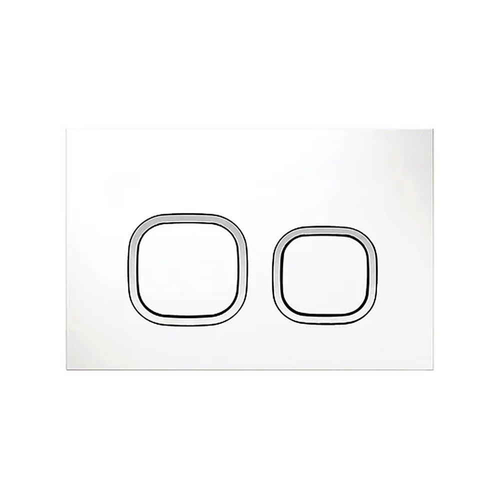 Soft SQ Push Plate Matte White